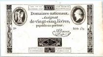 Frankreich 25 Livres Louis XVI (1792-10-24) - Sign. Jame