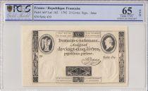 Frankreich 25 Livres Louis XVI (24-10-1792) - Sign. Jame - PCGS 65 OPQ