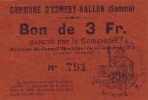 Frankreich 3 F Esmery-Hallon n° 791