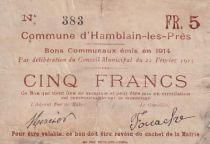 Frankreich 5 F Hamblain les Prés