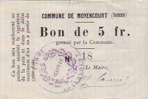 Frankreich 5 F Moyencourt