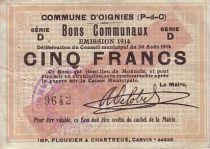 Frankreich 5 F Oignies