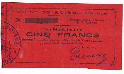 Frankreich 5 F Roisel