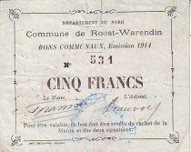 Frankreich 5 F Roost-Warendin