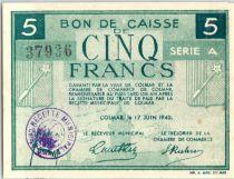 Frankreich 5 Francs , Colmar Chambre de Commerce, série A