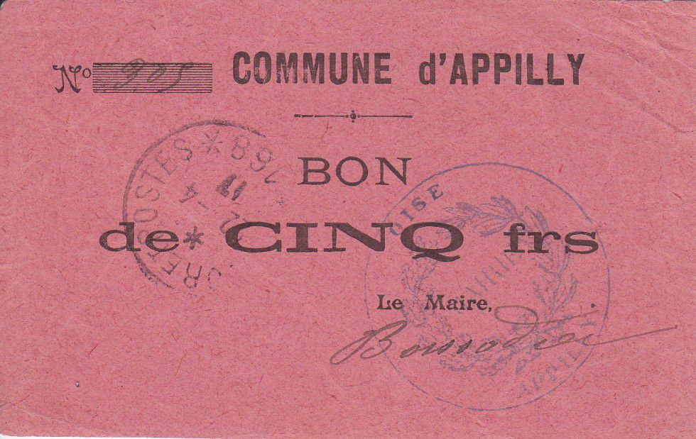 Frankreich 5 Francs Appilly City
