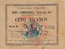 Frankreich 5 Francs Estrée City - 1914
