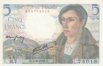 Frankreich 5 Francs Farmer - 02-06-1943 - Seral H.7