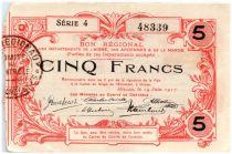 Frankreich 5 Francs Hirson Regional - 1917