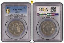 Frankreich 5 Francs Laureate head - 1937 - PCGS MS 63