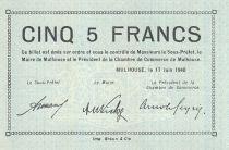 Frankreich 5 Francs Mulhouse Chambre de Commerce, série C - 1940