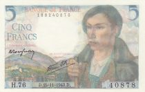 Frankreich 5 Francs Pyrenean shepherd - 25-11--1973 - Serial H.76