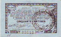Frankreich 50 cent. 70 communes