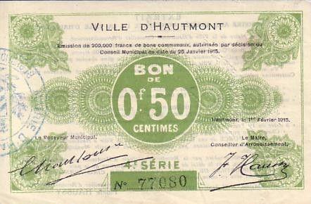 Frankreich 50 cent. Hautmont
