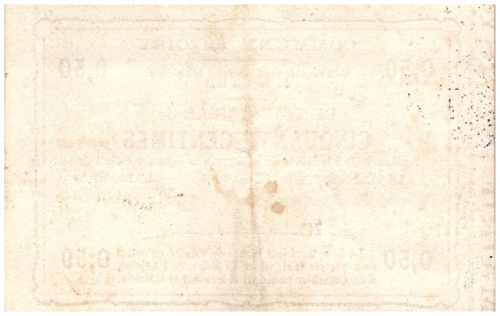 Frankreich 50 cent. Oisy City - 1915