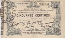 Frankreich 50 Centimes Fourmies City - 1915