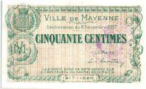 Frankreich 50 Centimes Mayenne City - 1917