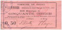 Frankreich 50 Centimes Regny City - 1915