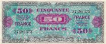 Frankreich 50 Francs Allied Military Currency - Flag - 1944