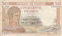 Frankreich 50 Francs Ceres - 02-02-1939 - Serial H.9578