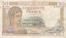 Frankreich 50 Francs Ceres - 10-08-1939 - Serial E.10771