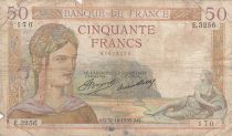 Frankreich 50 Francs Ceres - 31-10-1935 - Serial E.3256