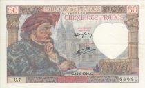 Frankreich 50 Francs Jacques Coeur - 13/6/1940 - Serial C.7 Nº 86690