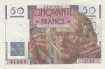 Frankreich 50 Francs Leverrier - 03-10-1946 - U.40