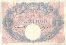Frankreich 50 Francs Pink and blue - 12-07-1902 Serial Y.2221