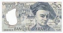 Frankreich 50 Francs Quentin de la Tour - Serial Y.67 - 1991