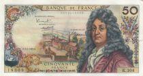 Frankreich 50 Francs Racine - 02-02-1967 Serial K.104