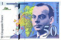 Frankreich 50 Francs Saint-Exupéry - 1992