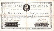 Frankreich 50 Livres Louis XVI - 29/09/1790
