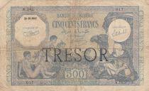 Frankreich 500 Francs Bank of Algeria overprint TRESOR - 1943