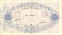 Frankreich 500 Francs Blue and pink - 27/05/1938 Serial Q2906