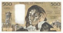 Frankreich 500 Francs Pascal - 02-01-1969 - V.10