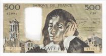 Frankreich 500 Francs Pascal - St Jacques Tower -1969