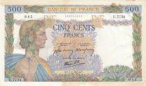 Frankreich 500 Francs Peace - 07-01-1943 - Serial U.7734