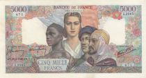 Frankreich 5000 Francs France and colonies - 18-04-1946 Serial Z.2085
