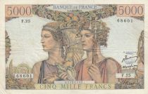 Frankreich 5000 Francs Sea and Countryside - 03-11-1949 Serial F.25