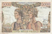 Frankreich 5000 Francs Sea and Countryside - 07-02-1952 Serial T.95