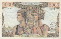 Frankreich 5000 Francs Sea and Countryside - 07-02-1952 Serial X.97