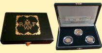 Frankreich Coff.1993 GAD.825 3 coins of Louis Napoleon Bonaparte 1993 - Gold Proof