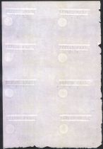 Frankreich Project of 50F sheet of 8 not issued
