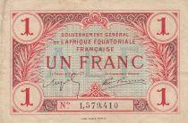 Französisches Äquatoriales Afrika 1 Franc 1917 - N°1579410
