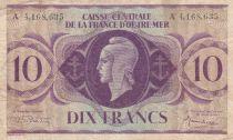 Französisches Äquatoriales Afrika 10 Francs 1944 - Marianne - A. 4,168,635