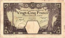 Französisches Westafrika 25 Francs Grand-Bassam - Elephant - 1923