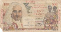 French Antilles 1 NF / 100 Francs 1947 - La Bourdonnais - Serial S.1, common issue for GUYANE MARTINIQUE GUADELOUPE