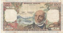 French Antilles 100 Francs Victor Schoelcher - ND (1964) - Serial H.2 - VF - P.10b
