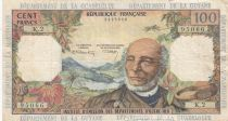 French Antilles 100 Francs Victor Schoelcher - ND (1964) - Serial K.2 - VF - P.10b